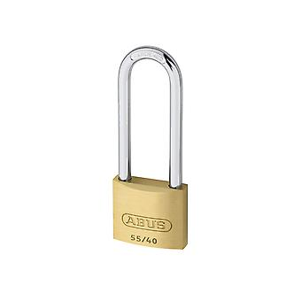 ABUS 55/40mm Brass Padlock 63mm Long Shackle Carded ABU5540LS63C