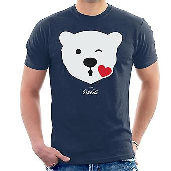 Coca Cola Polar Bear Kiss Men's T-Shirt