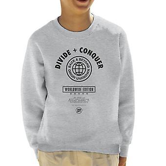 Teilen & erobern Weltweite Edition Globe Kid's Sweatshirt