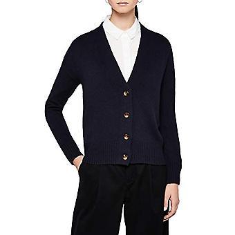 Meraki Women's Boxy V-Neck Cardigan Sweater, Navy, EU XS (US 0-2)