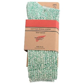 Red Wing Ragg Unisex Socks in Green White