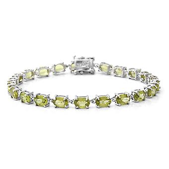 AA Peridot Tennis armband för kvinnor Sterling Silver Storlek 7,5