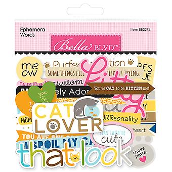 Bella Blvd Chloe Ephemera Words (103pcs) (BB2273)