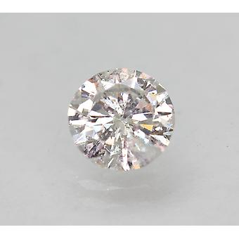 Certificado 0.83 quilates F SI1 redondo brillante diamante natural mejorado 6.11mm 3VG