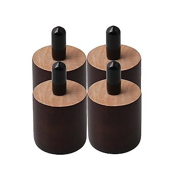 4pcs Furniture Leg Legs Feet 37*35mm Brown