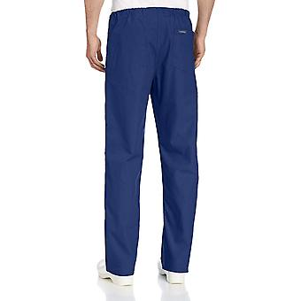 Landau Comfort Stretch One-Pocket Reversible Drawstring Scrub Pant, Navy, Large