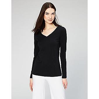 Marca - Daily Ritual Women's Stretch Supima Long-Sleeve V-Neck T-Shirt...