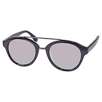 Sunglasses Unisex black with mirror lens (ml6610)