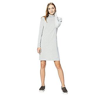 Brand - Daily Ritual Women's Long-Sleeve Turtleneck Dress, Light Heath...