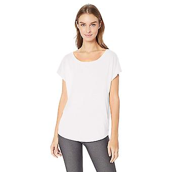 Essentials Womenăs Studio Short-Sleeve Lightweight Open-Back T-Shirt, ...
