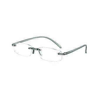قراءة نظارات Unisex الذاكرة السماكة الرمادية +3.50 (le-0103E)