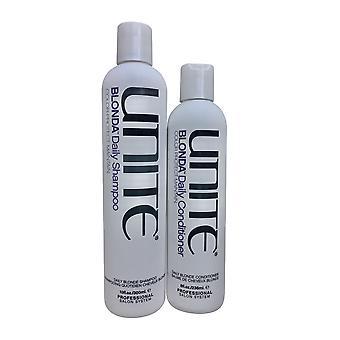 Unite Blonda Daily Shampoo 10 OZ & Blonda Daily Conditioner 8 OZ Set