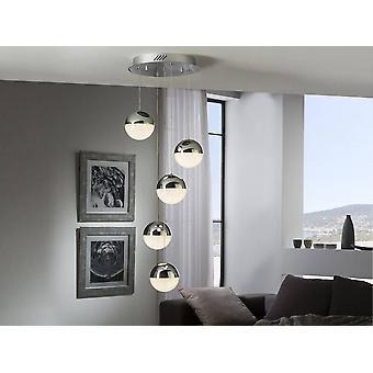 Schuller Sphere - Integrato LED Cluster Drop Ceiling Pendant Chrome