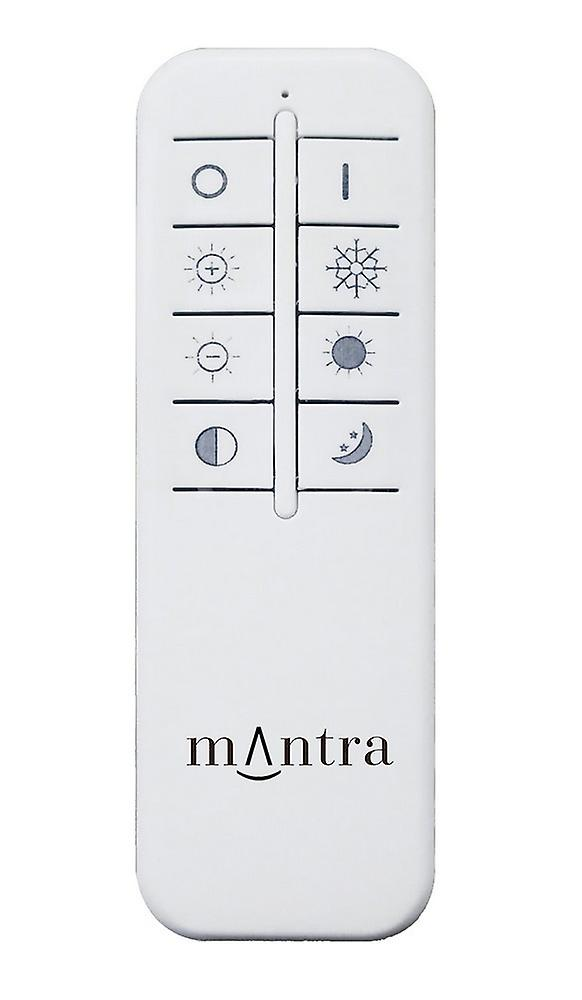Inspired Mantra Fusion - Virgin - Flush Ceiling Light  45cm Round 18W LED 2700-6500K Tuneable, 1680lm, Remote Control White, Diamond