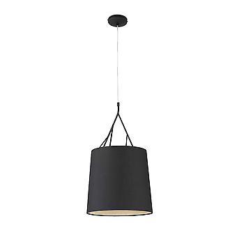 Faro Tree - 1 Pendentif plafond léger noir avec ombre, E27