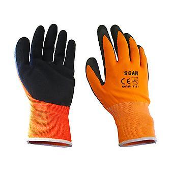 Scan Orange Foam Latex Coated Glove 13g - Grote SCAGLOLATOL