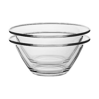 Bormioli Rocco 6pc Mr Chef Glass Nisting Mixing Bowl Set - Heavy Duty, Lave-vaisselle et micro-ondes - 1.5L