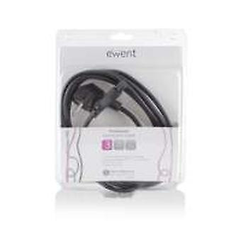 Ewent EW9180 Netzkabel Schwarz 3 m CEE7/7 C5 Stecker