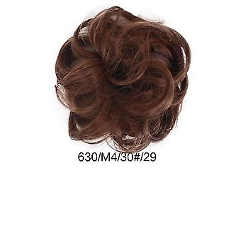 Newest Curly Messy Bun Hair Piece Scrunchie Updo Cover Hair Extensions Real As