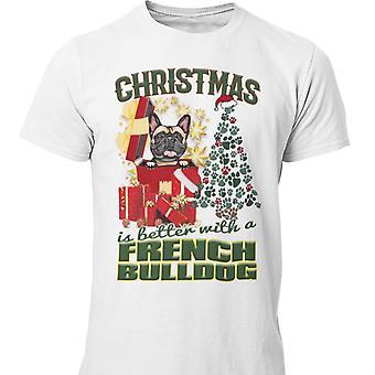 Französisch Bulldogge Weihnachten Hund T-shirt