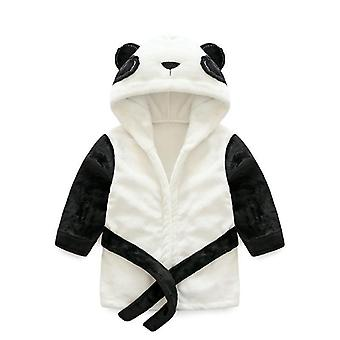 Nyfödda Baby Boy Flicka Cartoon Animal Badrock Hooded