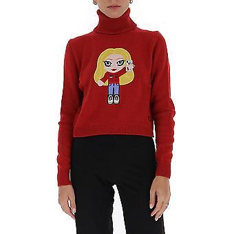 Chiara Ferragni Cfjm042rd Women's Red Wool Sweater