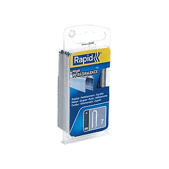 Rapid 7/12mm Cable Staples Narrow Box 960 RPD712NB