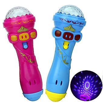 Osvětlení Hračky Hot Funny Bezdrátový mikrofon Model Hudba Karaoke Roztomilý Mini Fun