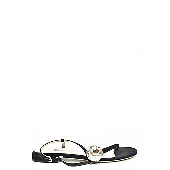 Miu Miu Ezbc057042 Women's Black Suede Sandals