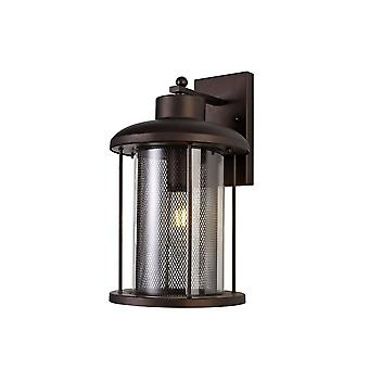 Ophelia Extra Large Wall Lamp, 1 X E27, Antique Bronze/clear Glass, Ip54, 2yrs Warranty