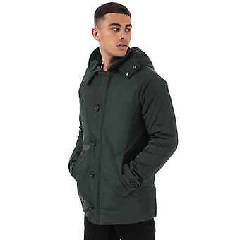 Men's Henri Lloyd Traditional Consort Hooded Oxford Jacket in Green