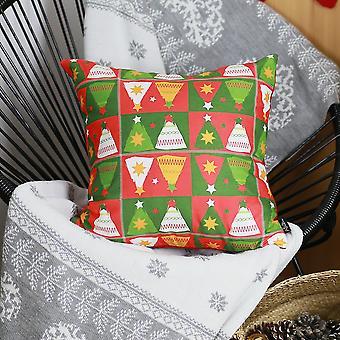 طبع عيد ميلاد سعيد شجرة طباعة غطاء وسادة