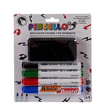 Juego de rotuladores de punta de plástico de pizarra blanca (4 piezas)