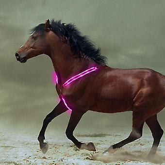 Breastplate Dual Led Harness Nylon, Night Visible Horse Riding Equipment,