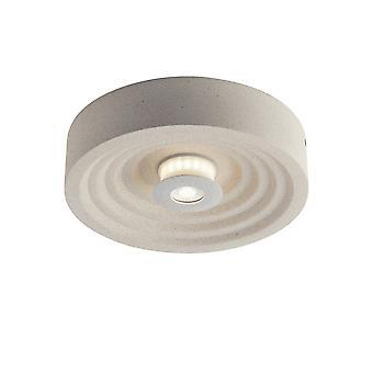 Fan Europe Vertigo - Lampe de plafond extérieure intégrée en béton LED Surface Montée, Blanc, IP44, 4000K