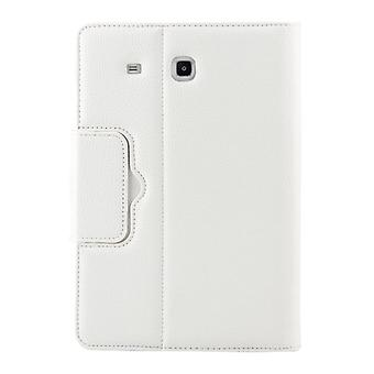 For Galaxy Tab E 9.6 / T560 2 in 1 Detachable Bluetooth Keyboard Litchi Texture Leather Case with Holder(White)