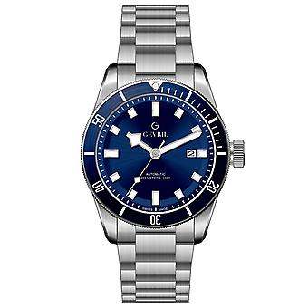 Gevril Men's Yorkville Blue Dial Stainless Steel Watch