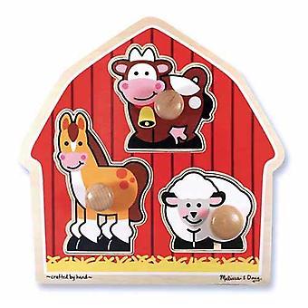 Melissa & Doug Barnyard animales Peg Puzzle