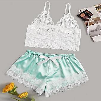 Aparte 2pcs Lace Women Beach Dress Lingerie Night Short Sleepwear