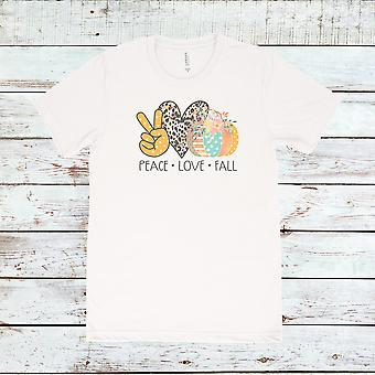 Tee-shirt peace love fall
