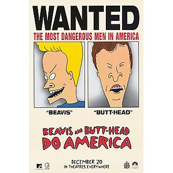 Beavis et Butthead America affiche de film (11 x 17)