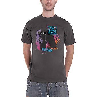Rolling Stones T-paita Tahmea Sormet Ahdistunut Logo Virallinen Miesten Uusi Harmaa
