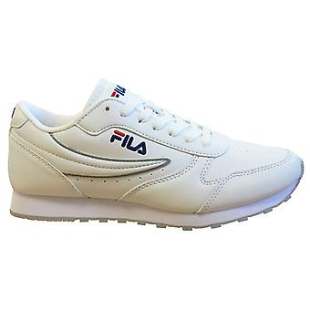 Fila Orbit Low Mens Trainers White Lace up عارضة الأحذية 1010263 1FG