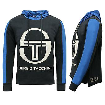 Sergio Tacchini Bild Tröja Mens Track Top Hoodie Navy 37665 213 X6B