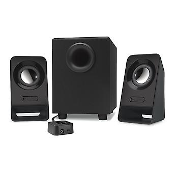 Logitech z213 compact pc multimedia 2.1 speaker system with subwoofer, 14 w, control pad, 3.5mm audi