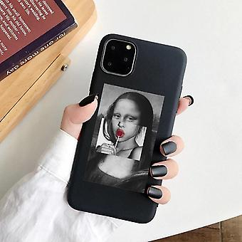 iPhone 12 Pro Max Shell Mona Lisa suce sur lollishes Leonardo