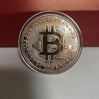 Gold Plated Bitcoin Coin Collectible Art Collection