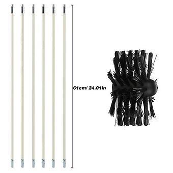 Bendable Long Nylon Wire Chimney Brush Flexible Dryer Pipe Inner Wall