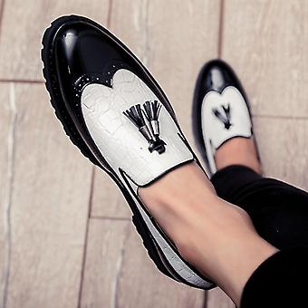 Men Breathable Leather Loafers, Driving Moccasins Comfortable Shoes