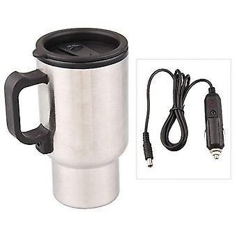 Stainless Stee Car Thermo Cup, Electric Heater For Coffee, Tea, Travel Mug,